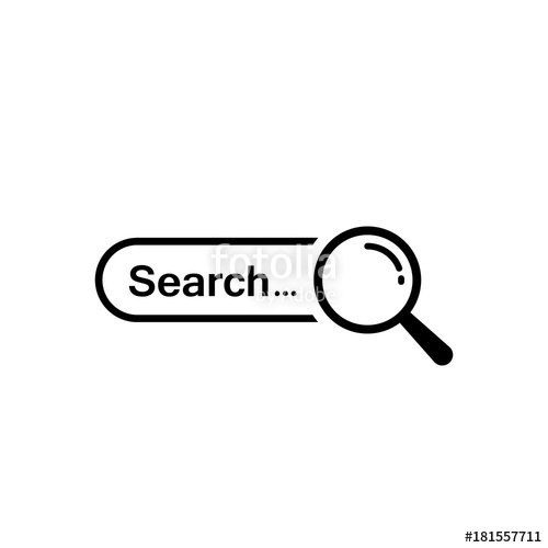 500x500 Search Bar Icon. Vector Isolated Search Symbol Stock Image And