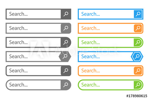 500x334 Search Bar Vector Design Element, In Flat Style