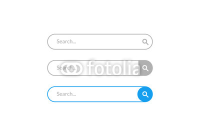 400x272 Search Bar Vector Design Element. Set Of Search Bar Boxes. Ui
