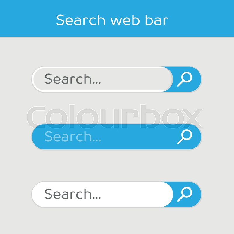 800x800 Search Bar Vector Design Element. Set Of Search Bar Boxes. Vector