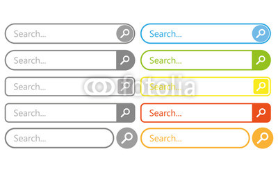 400x248 Search Bar Vector Element Design, Set Of Search Boxes Ui Template