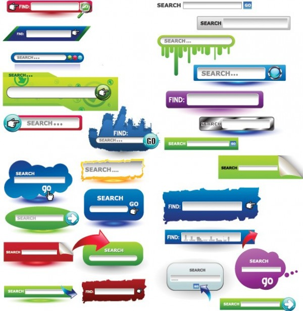 600x616 Creative Search Boxfield Vector Pack