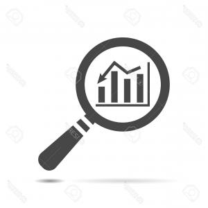 300x300 Photostock Vector Magnifying Glass Looking For People Icon