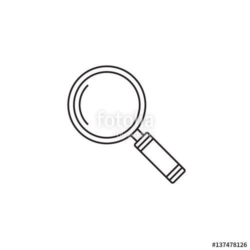 500x500 Search Icon Vector, Magnifying Glass Solid Logo Illustration