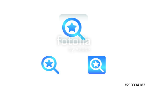 500x300 Search Icon With Star Symbol. Search Web Icon Vector Icon In