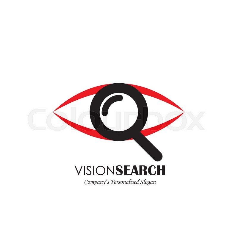 800x800 Vector Logo Icon Of Eyes And Search Symbol. Also Represents Deep