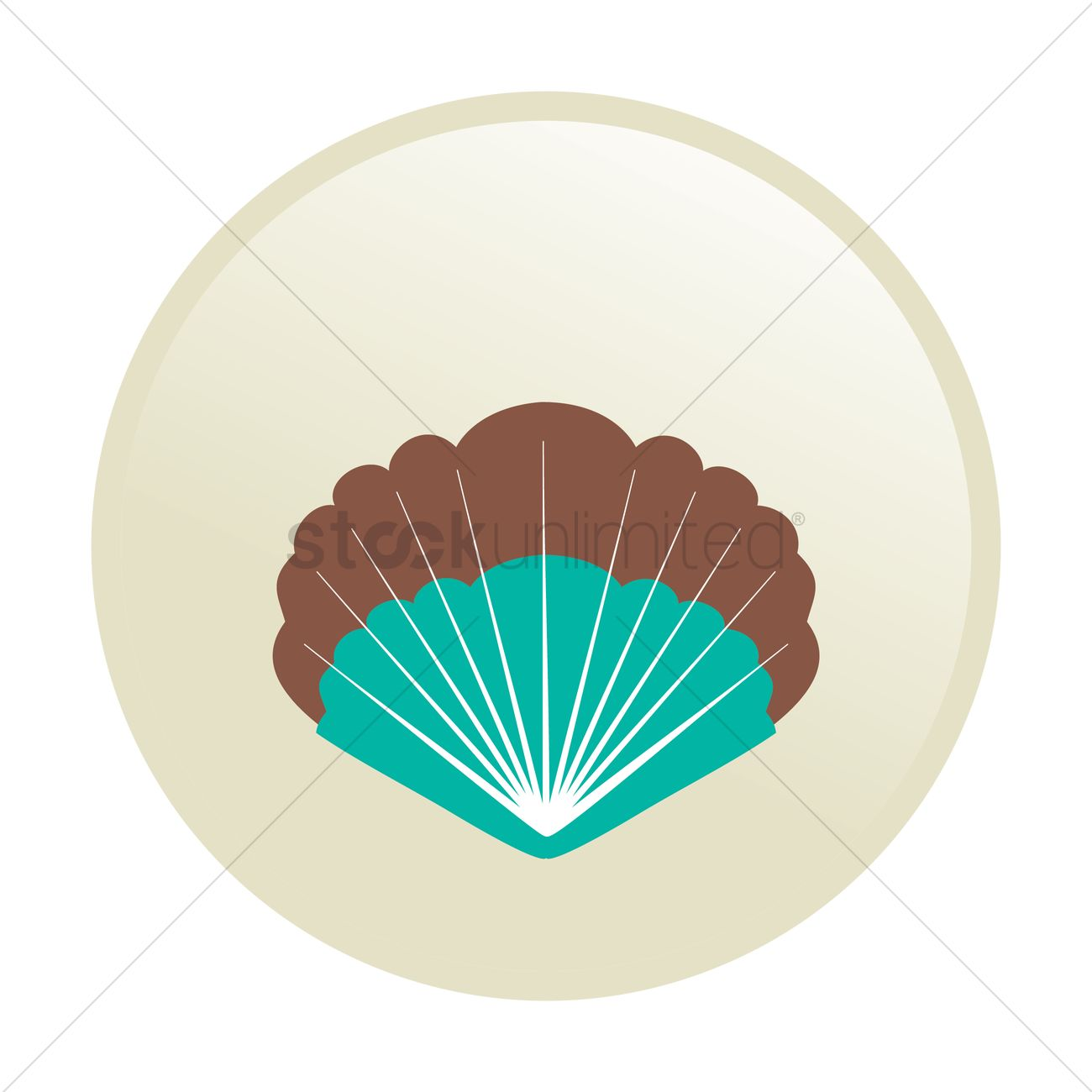 1300x1300 Free Seashell Vector Image