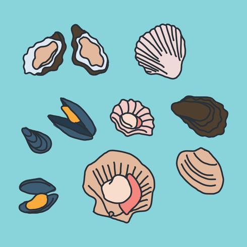 490x490 Seashell Vector Free Download Mollusk Doodles Download Free Vector