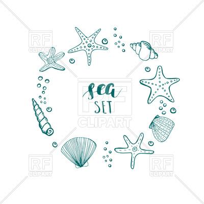 400x400 Seashell Vector Free Download Hand Drawn Sea Elements Shells Stars
