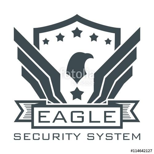 500x500 Eagle Logo, Security Logo, Eagle Wings Logo Security System, Eagle