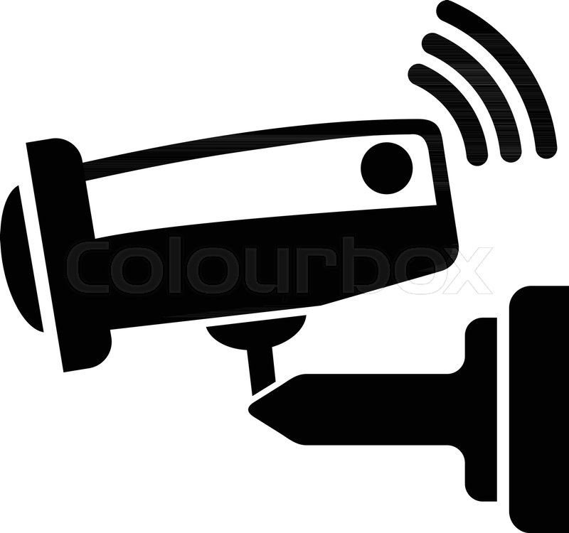 800x750 Security Camera Icon. Simple Illustration Of Security Camera
