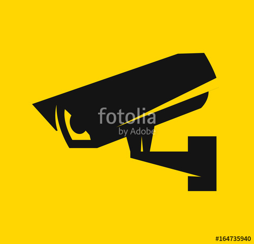 500x481 Video Surveillance, Cctv Camera Icon. Security Camera. Vector