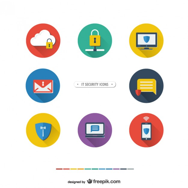 626x626 It Security Icons Vector Free Download