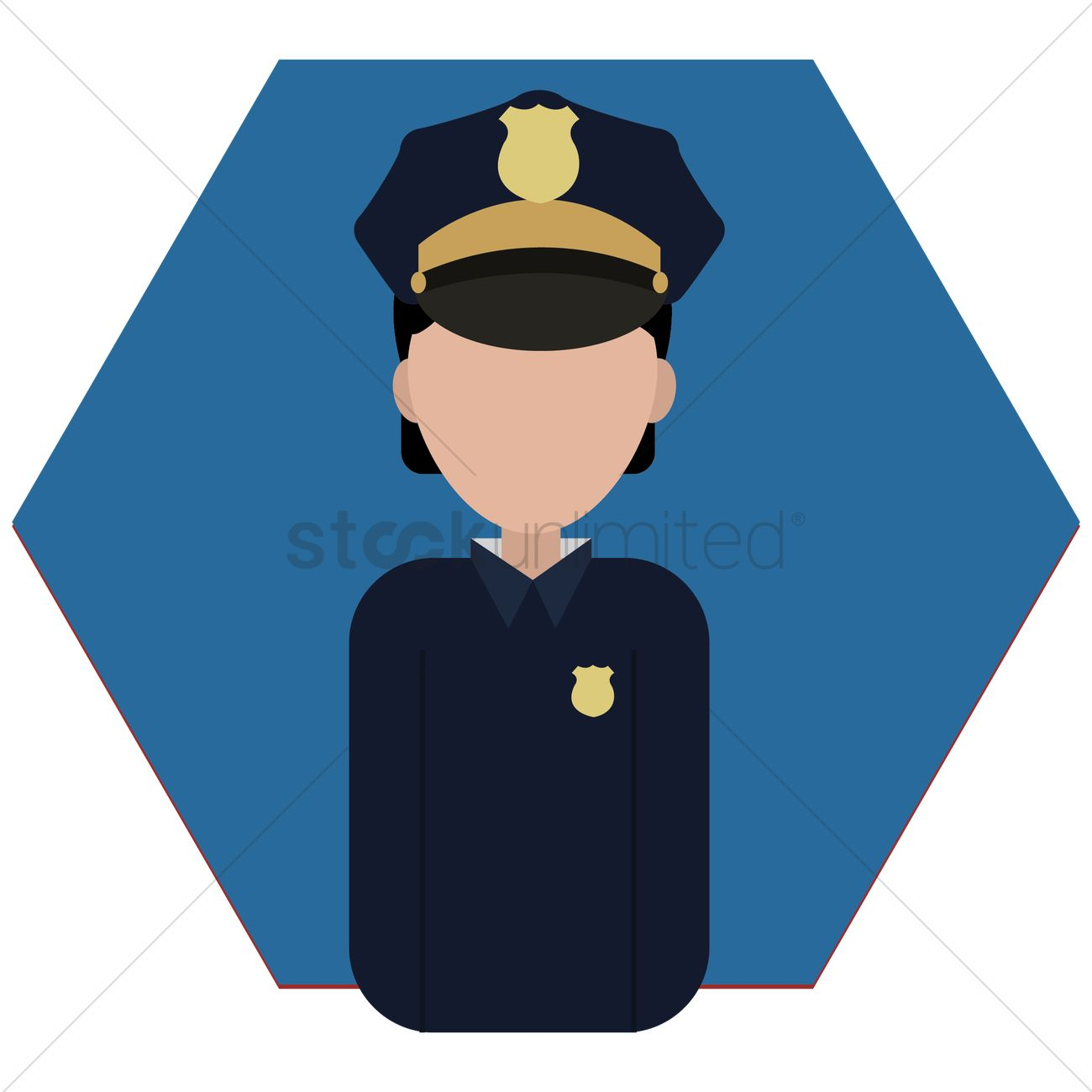 1300x1300 Security Woman Vector Image
