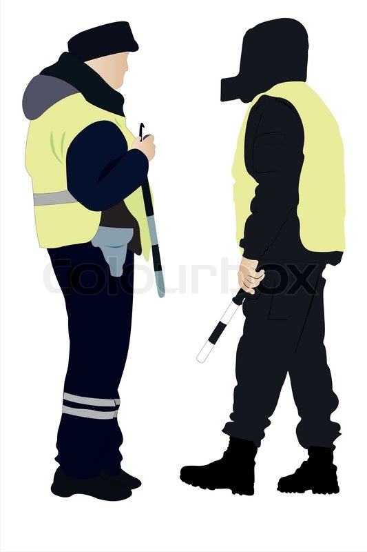 533x800 Vector Illustration Of Policeman And Security Officer Stock