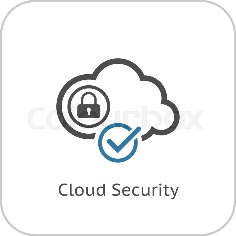 800x800 Cloud Security Icon. Flat Design. Business Concept Isolated