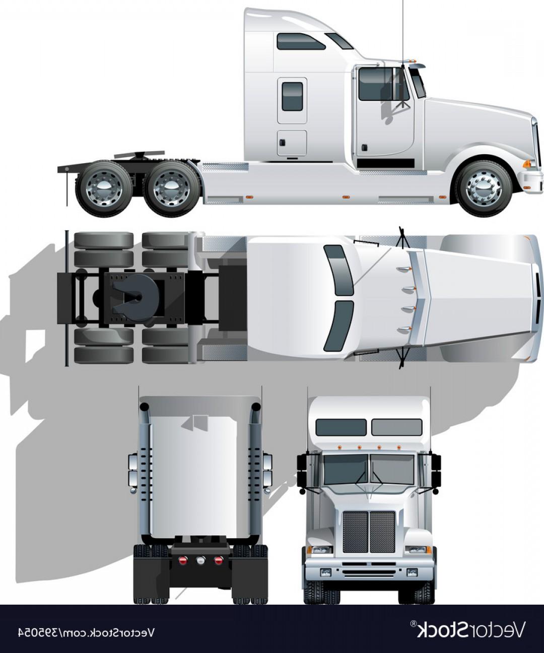 1080x1296 Vector Hide Tailed Semi Truck Vector Lazttweet