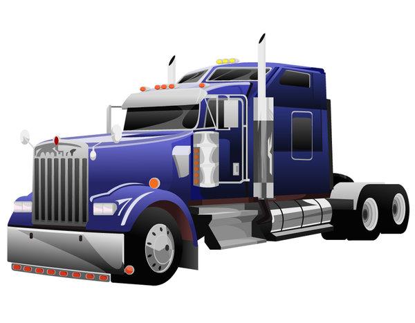 Semi Truck Vector Free