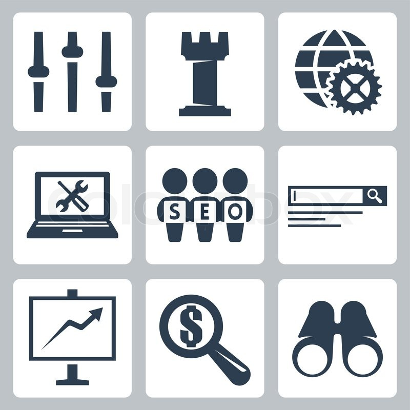 800x800 Vector Isolated Seo Icons Set