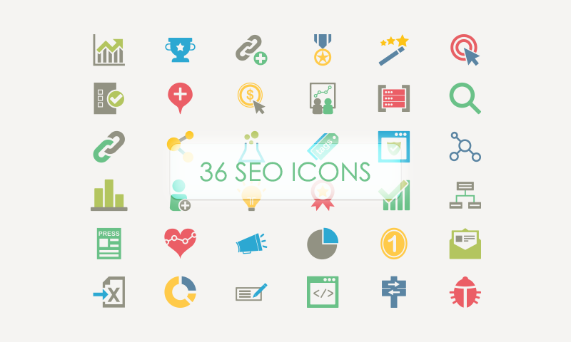 800x480 36 Seo Vector Icons (Freebie) On Behance