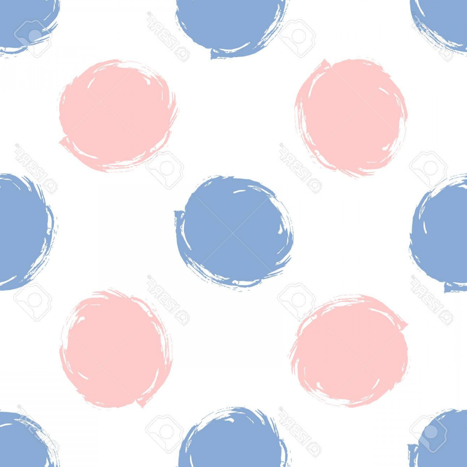 1560x1560 Photostock Vector Grunge Seamless Pattern Polka Dots In Color Rose