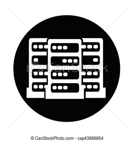 450x470 Computer Server Icon Clipart Vector