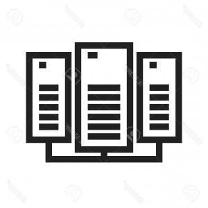 300x300 Photostock Vector Data Center Network Server Icon Vector Image Can