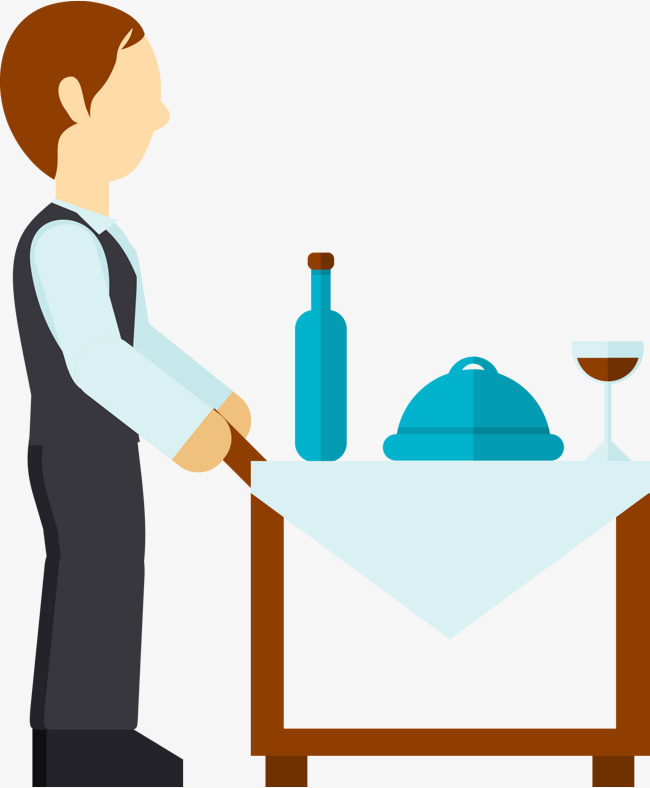 650x788 Room Service Waiter, Man, Vector Man, Waiter Png And Vector For