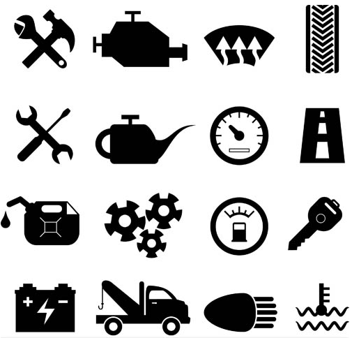 505x484 Black Car Service Icons Ai Format Free Vector Download