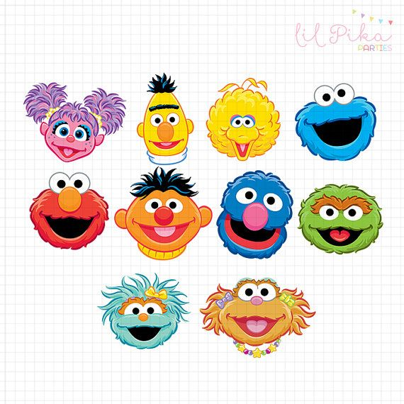 570x570 Free Sesame Street Clipart Sesame Street Characters Head Clipart