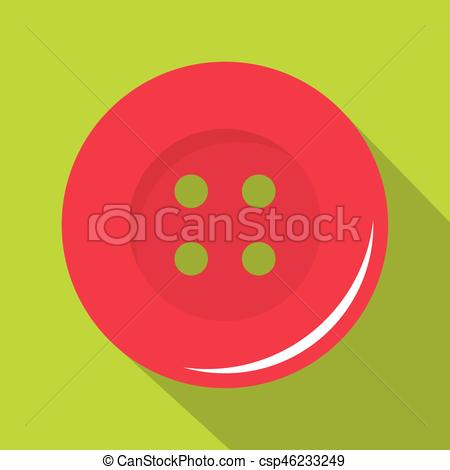 450x470 Pink Sewing Button Icon, Flat Style. Pink Sewing Button Icon. Flat