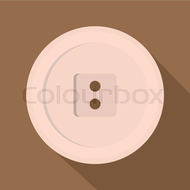 800x800 White Sewing Button Icon. Flat Illustration Of White Sewing Button