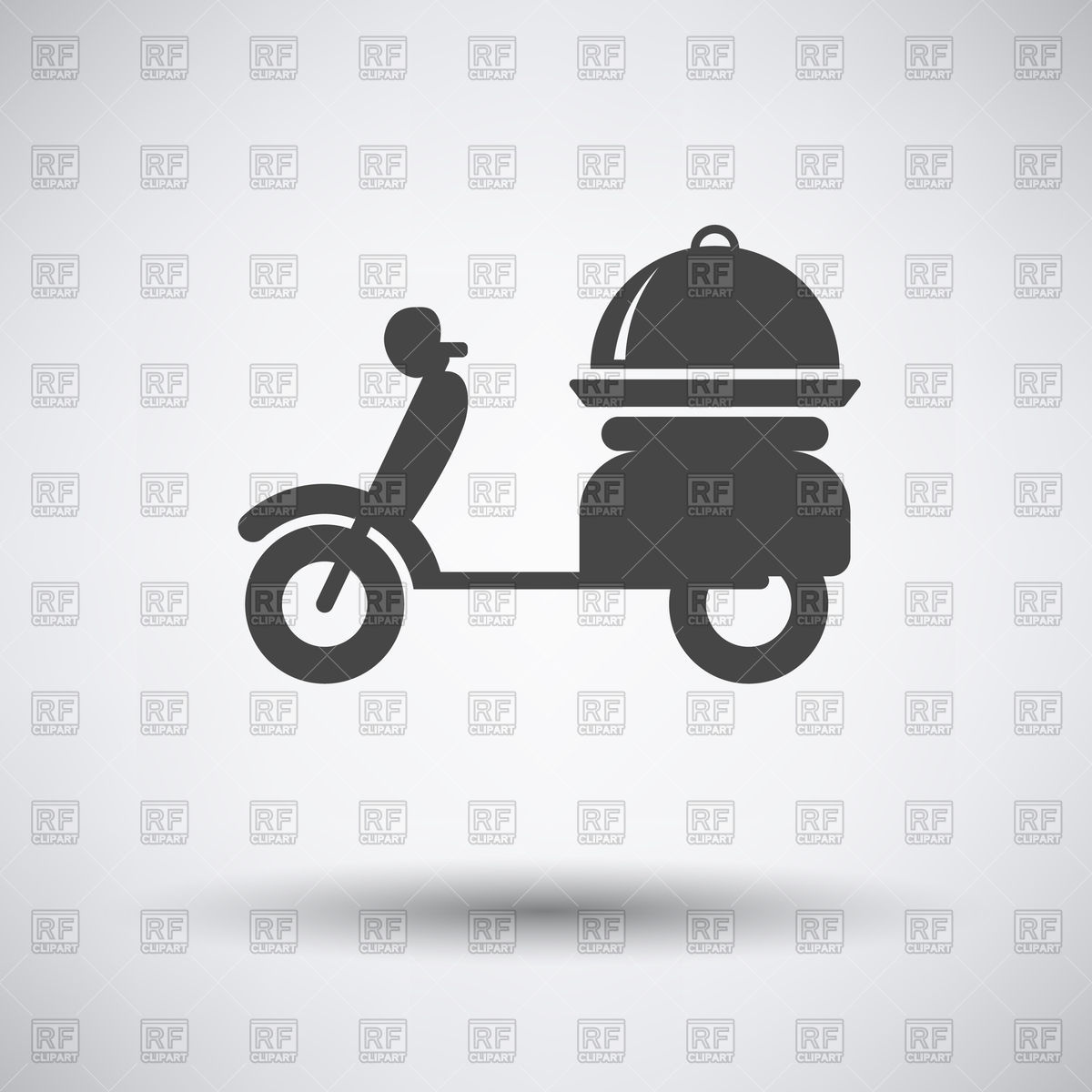 1200x1200 Delivery Motorcycle Icon On Gray Background With Round Shadow