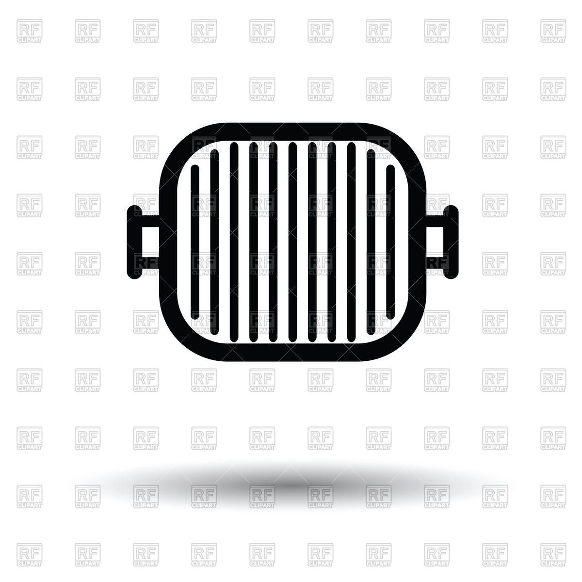 1200x1200 Grill Pan Icon With Shadow Vector Image Vector Artwork Of Icons