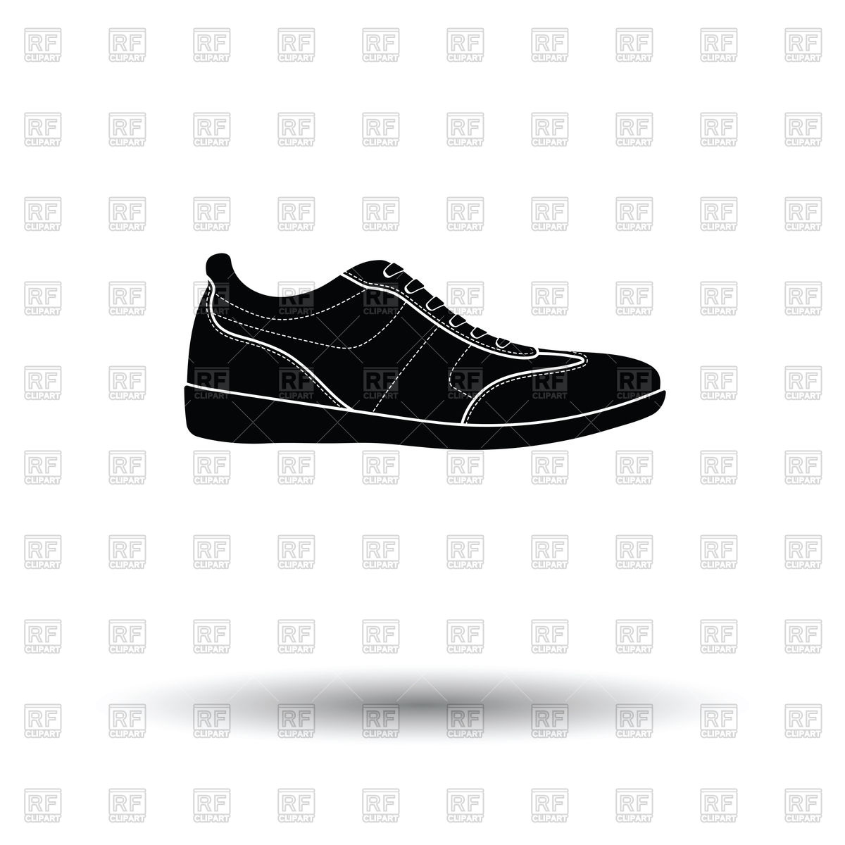 1200x1200 Man Casual Shoe Icon On White Background With Shadow Vector Image