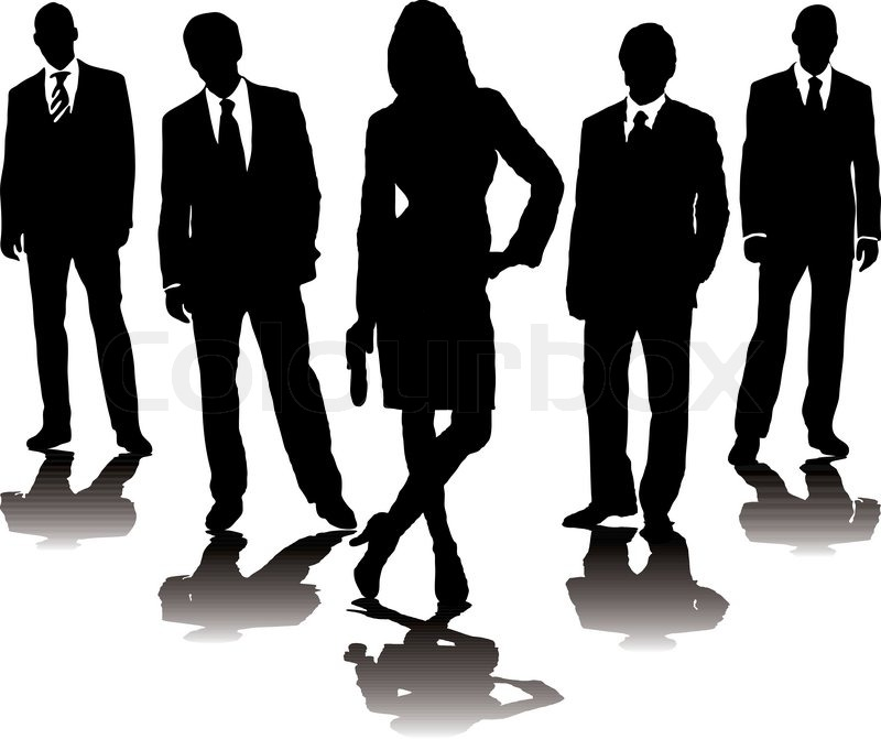 800x671 A Collection Of Business People In Mono Silhouette With A Gradient