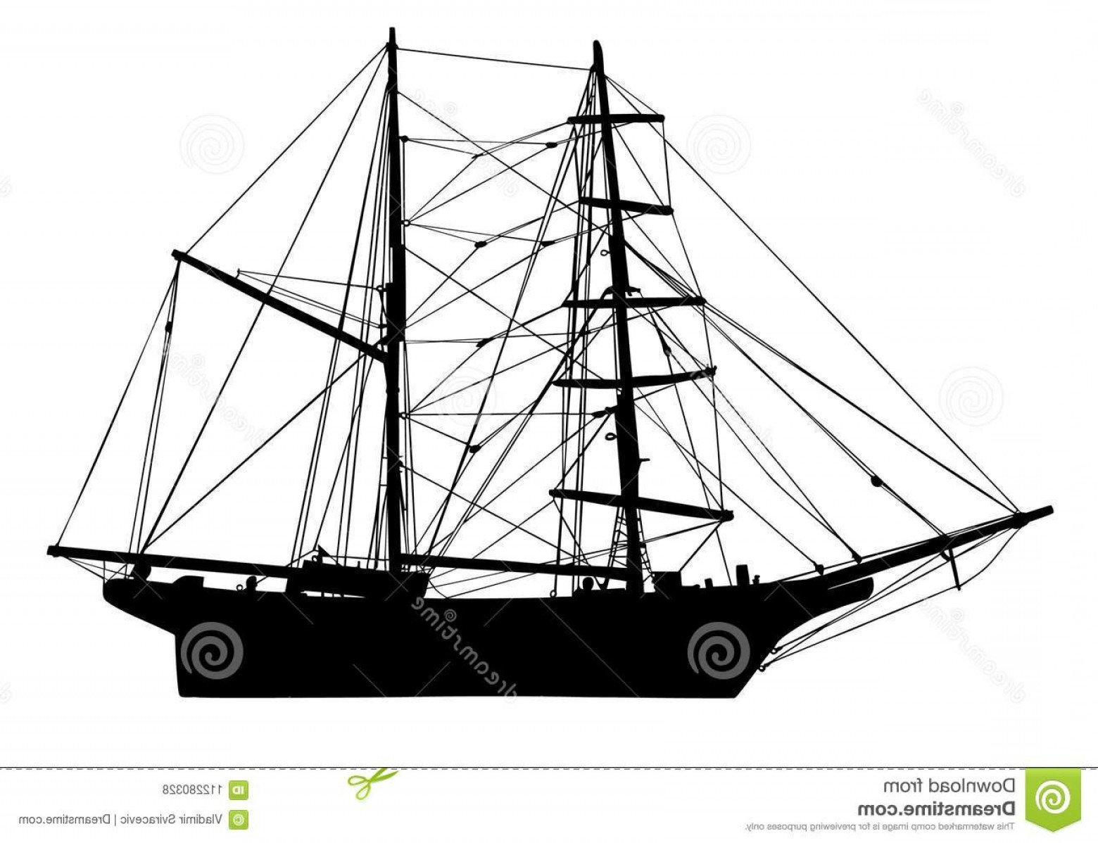 1560x1198 Wooden Pirate Ship Vector Silhouette Sail Boat Wooden Pirate Ship