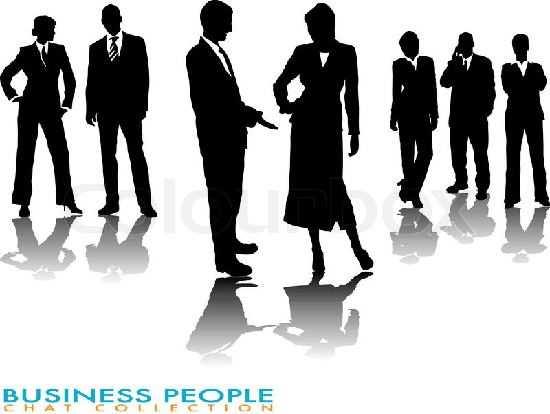 800x602 Business People Chatting In Silhouette With A Gradient Shadow