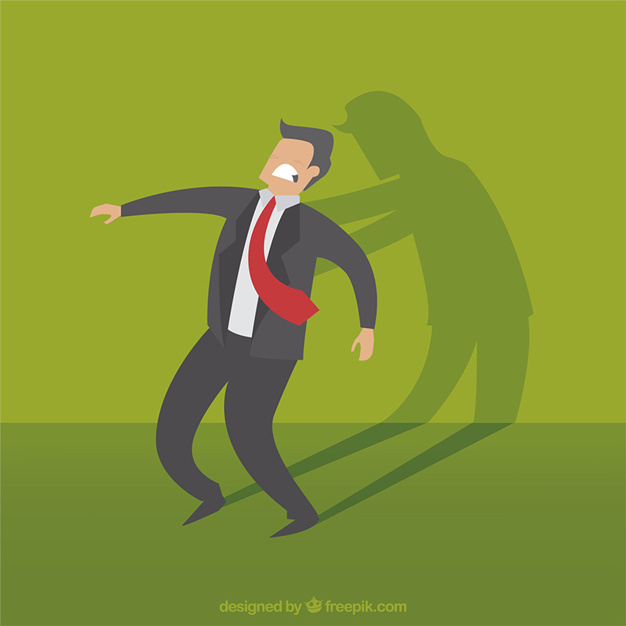 626x626 Businessman With His Devil Shadow Vector Free Download