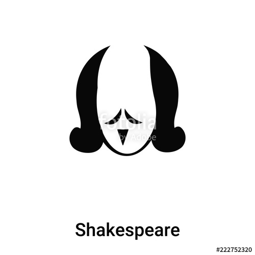 500x500 Shakespeare Icon Vector Isolated On White Background, Logo Concept