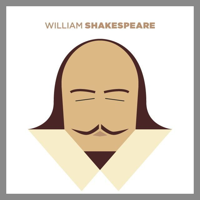 640x640 A Super Simple Shakespeare Vector