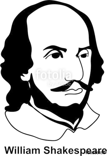 343x500 William Shakespeare (Vector) Stock Image And Royalty Free Vector