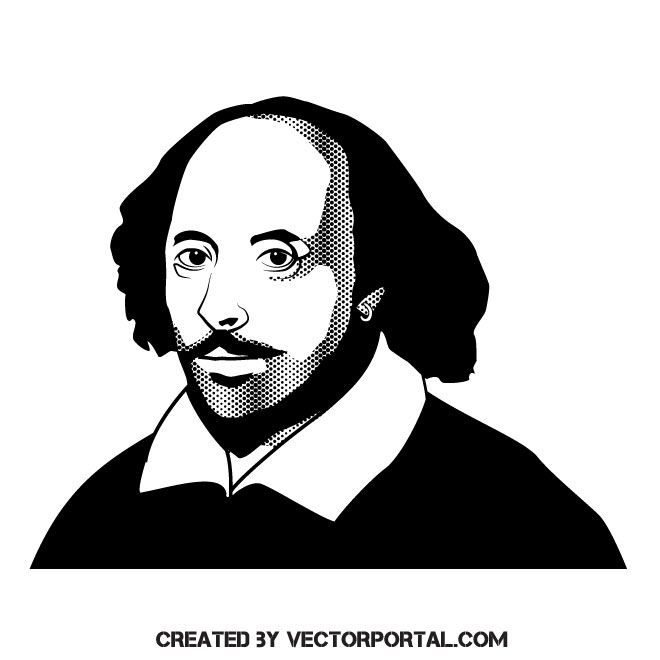660x660 Writer William Shakespeare Vector Illustration Haft Inne