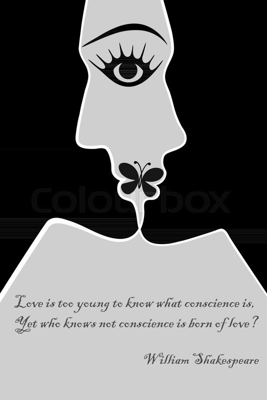 534x800 Young Man And Woman Have Merged Into A Kiss, Below Is A Quote By