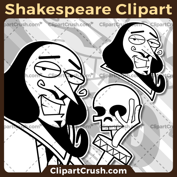 600x600 Nice Cartoon Shakespeare Clipart