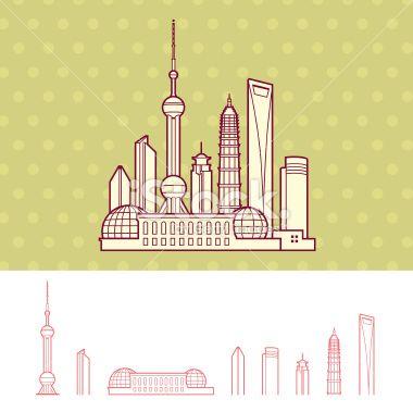 380x379 Shanghai, China Cityscape Skyline Chine Shanghai