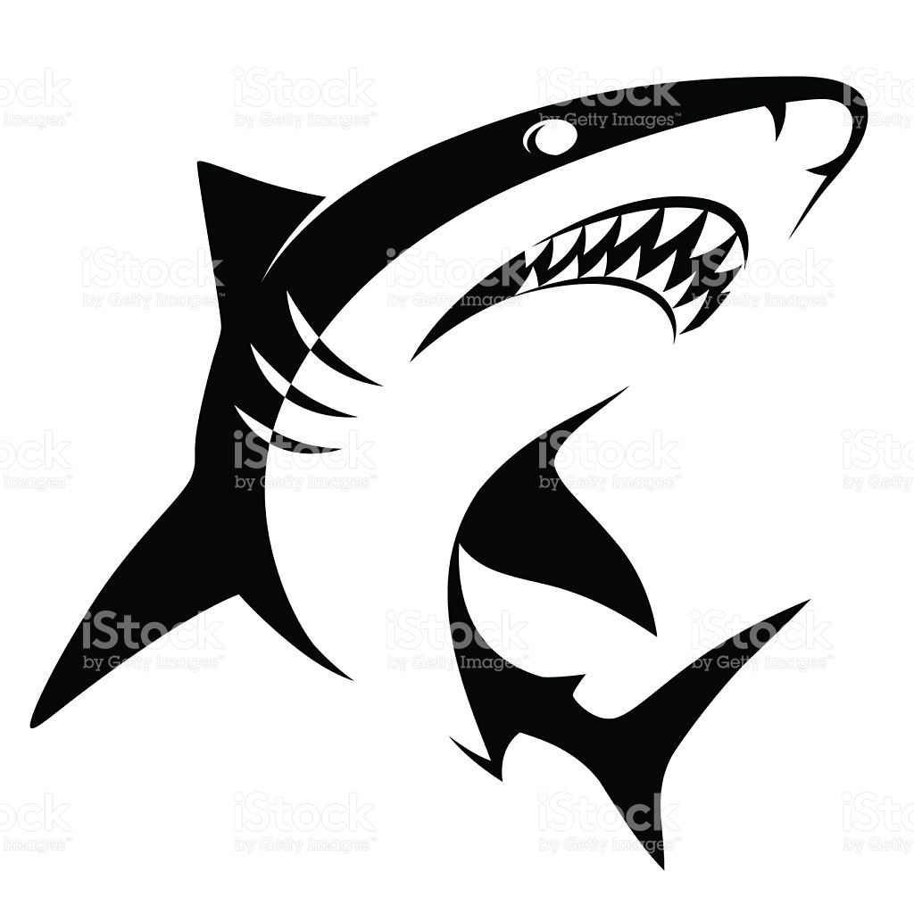 1024x1024 Great White Shark Clipart Vector
