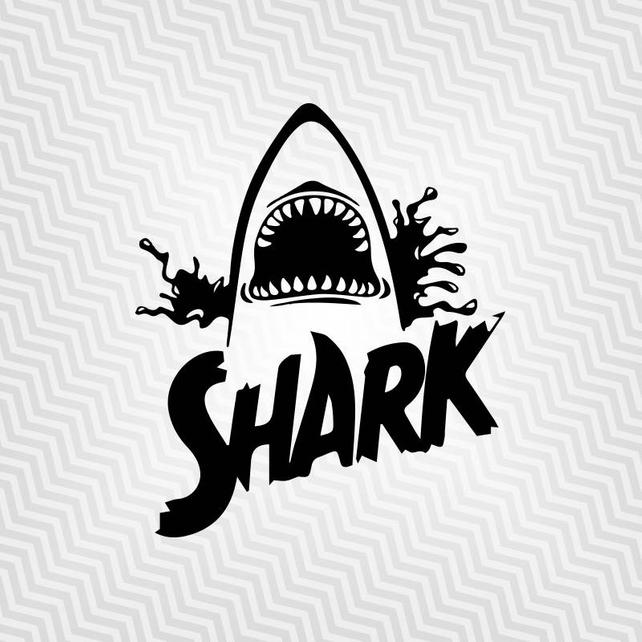 642x642 Shark Svg Shark Jaw Cutout Vector Cricut Silhouette Etsy