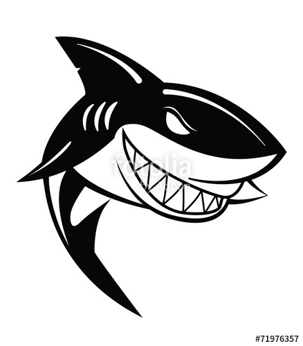 438x500 Shark Vector Illustration Stock Image And Royalty Free Vector