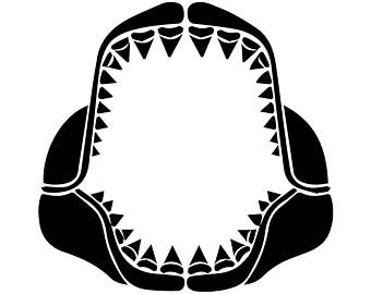 340x270 Shark Teeth Svg Etsy